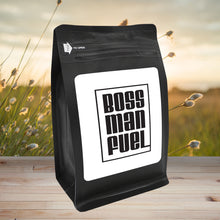 Load image into Gallery viewer, Boss Man Fuel – Coffee Gift – Gifts for Coffee Lovers with Funny, Inspirational Quotes – Best Gifts for Coffee Lovers for Christmas, Birthdays, Anniversaries – Coffee Gift Ideas – 12oz Medium-Dark Roast Coffee Beans