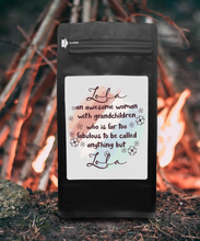 Load image into Gallery viewer, Lola An Awesome Woman With Grandchildren Who Is Far Too Fabulous To Be Called Anything But Lola – Coffee Lovers Gifts with Funny, Inspirational Quotes – Best Ideas for Christmas, Birthdays, Anniversaries – 12oz Medium-Dark Beans