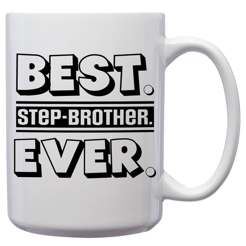Best Half-Brother Ever – Mug by DieHard Java – Tea Mug 15oz – Ceramic Mug for Coffee, Tea, Hot Chocolate – Big Mug with Funny or Inspirational Captions – Top Quality Large Mug as Birthday, Christmas, Co-worker Gift