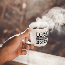 Load image into Gallery viewer, Best Step-Brother Ever – Mug by DieHard Java – Tea Mug 15oz – Ceramic Mug for Coffee, Tea, Hot Chocolate – Big Mug with Funny or Inspirational Captions – Top Quality Large Mug as Birthday, Christmas, Co-worker Gift