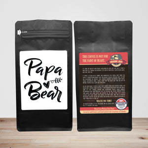 Papa Bear – Coffee Gift – Gifts for Coffee Lovers with Funny, Inspirational Quotes – Best Gifts for Coffee Lovers for Christmas, Birthdays, Anniversaries – Coffee Gift Ideas – 12oz Medium-Dark Roast Coffee Beans
