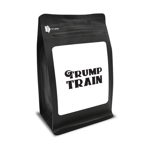 Trump Train – Coffee Gift – Gifts for Coffee Lovers with Funny, Inspirational Quotes – Best Gifts for Coffee Lovers for Christmas, Birthdays, Anniversaries – Coffee Gift Ideas – 12oz Medium-Dark Roast Coffee Beans