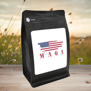 MAGA – Coffee Gift – Gifts for Coffee Lovers with Funny, Inspirational Quotes – Best Gifts for Coffee Lovers for Christmas, Birthdays, Anniversaries – Coffee Gift Ideas – 12oz Medium-Dark Roast Coffee Beans