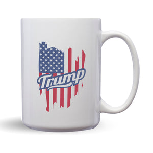 Trump – Mug by DieHard Java – Tea Mug 15oz – Ceramic Mug for Coffee, Tea, Hot Chocolate – Big Mug with Funny or Inspirational Captions – Top Quality Large Mug as Birthday, Christmas, Co-worker Gift