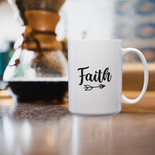 Load image into Gallery viewer, Faith – Mug by DieHard Java – Tea Mug 15oz – Ceramic Mug for Coffee, Tea, Hot Chocolate – Big Mug with Funny or Inspirational Captions – Top Quality Large Mug as Birthday, Christmas, Co-worker Gift