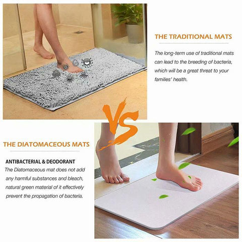 Diatomaceous Earth Mat Bathroom Water Absorption Quick