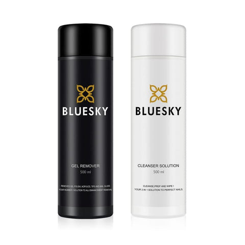 Bluesky Gel Remover and Cleanser Duo - 500ml bottles