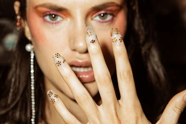 Bluesky Gel Polish - Floral Nail Art Design for London Fashion Week
