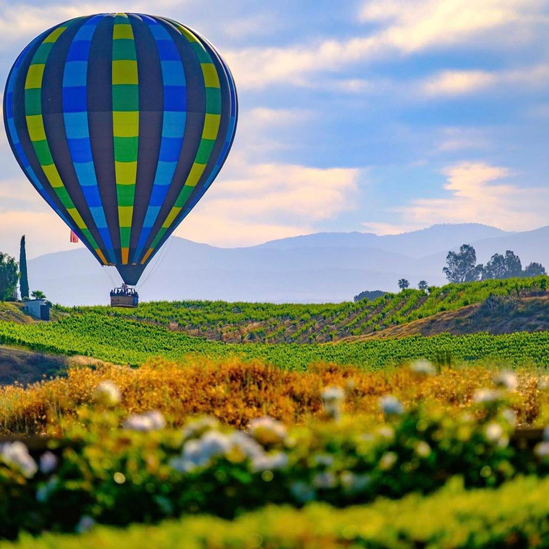 Hot air balloon in Temecula, CA.
