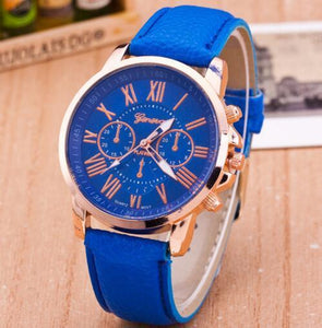 Luxury Brand Leather Quartz Watch