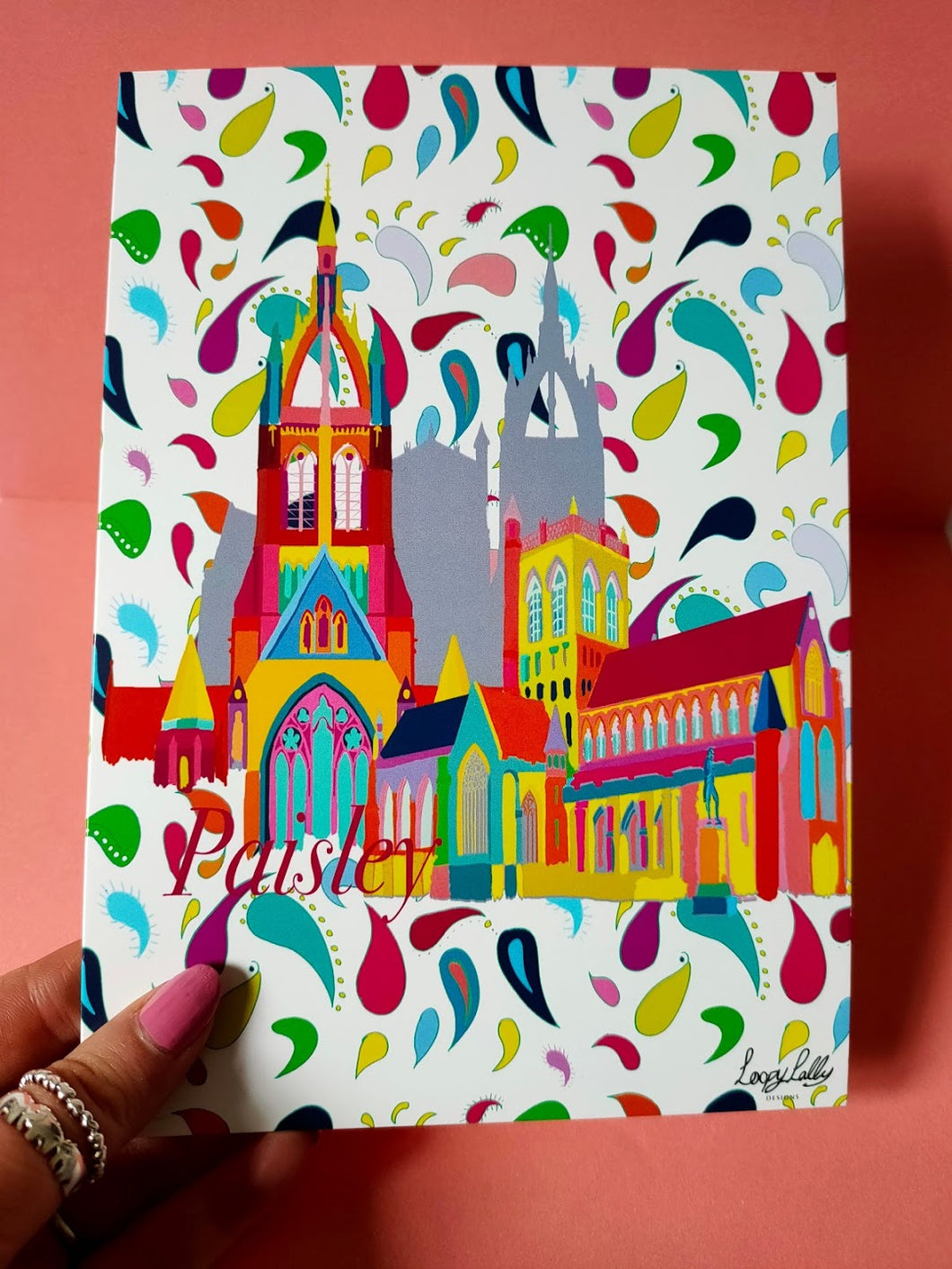 Paisley Town blank card
