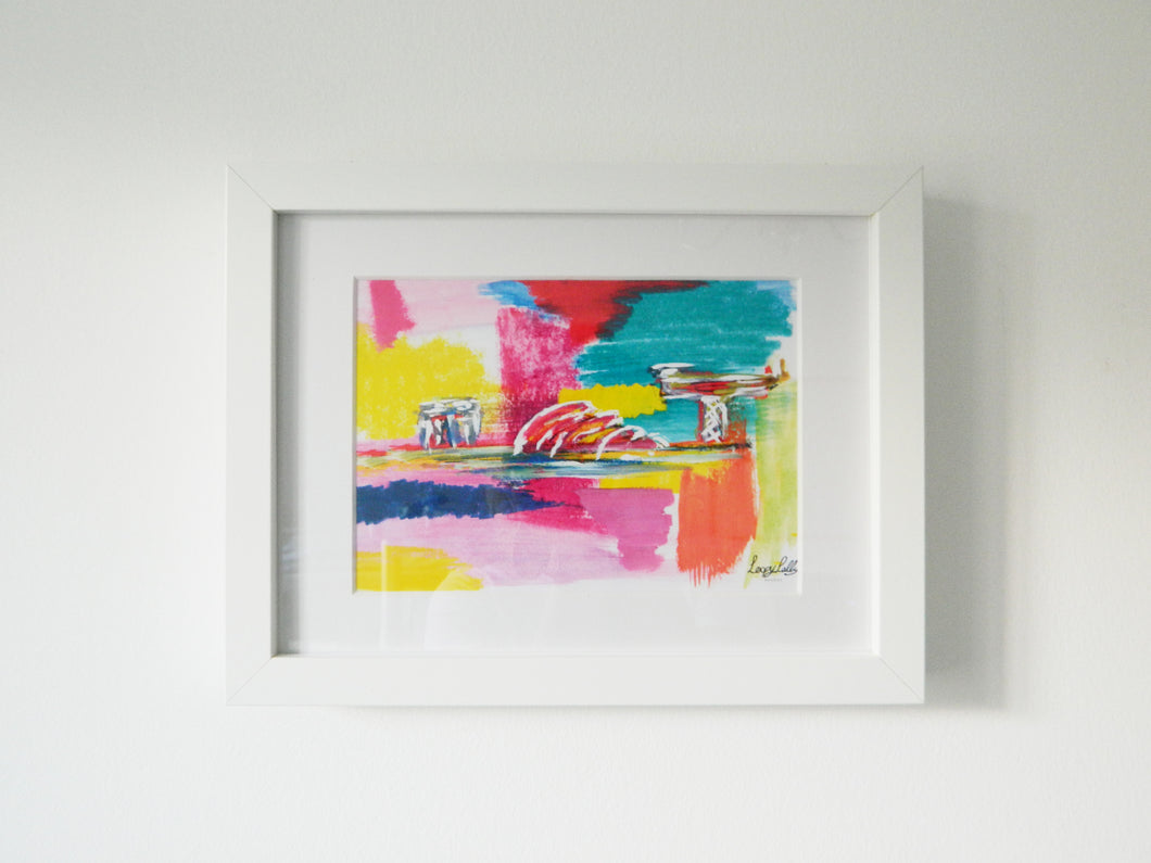 Abstract Glasgow print