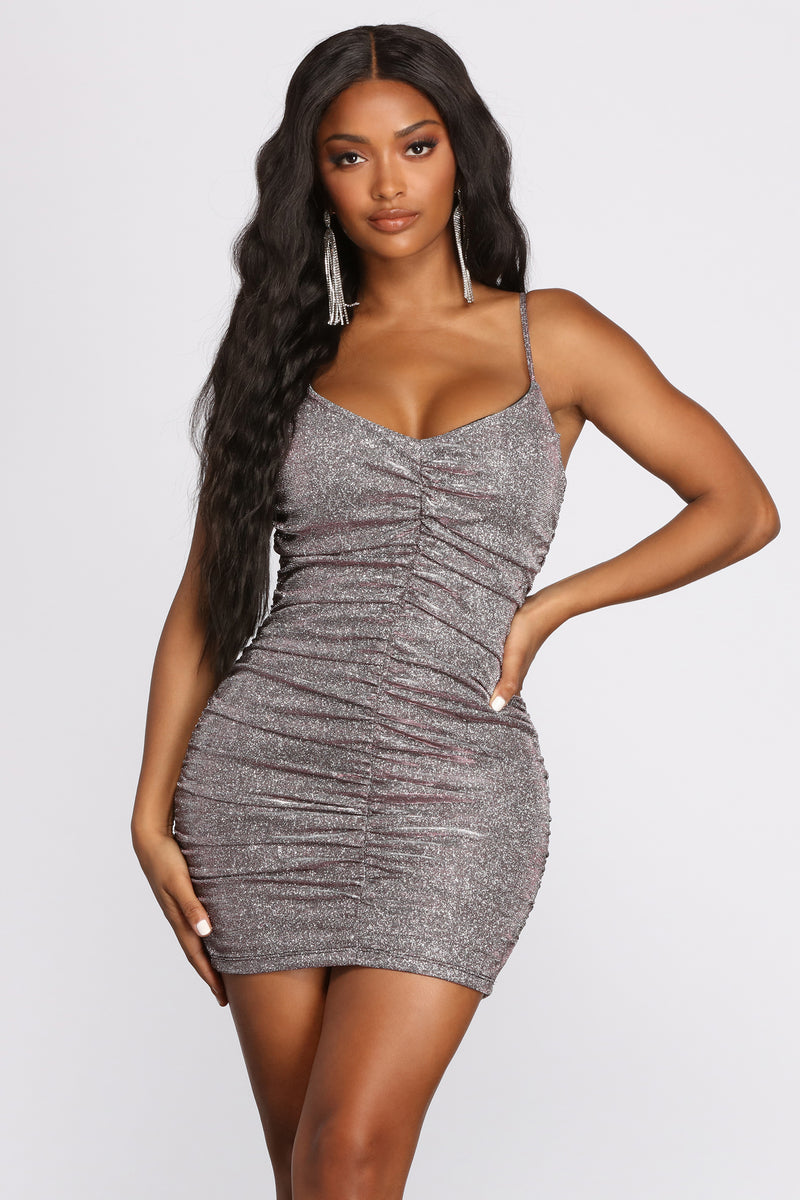 Ladies Plus Size Wrap Cross Over Mini Dress Womens Side Ruched Soft Fit Bodycon