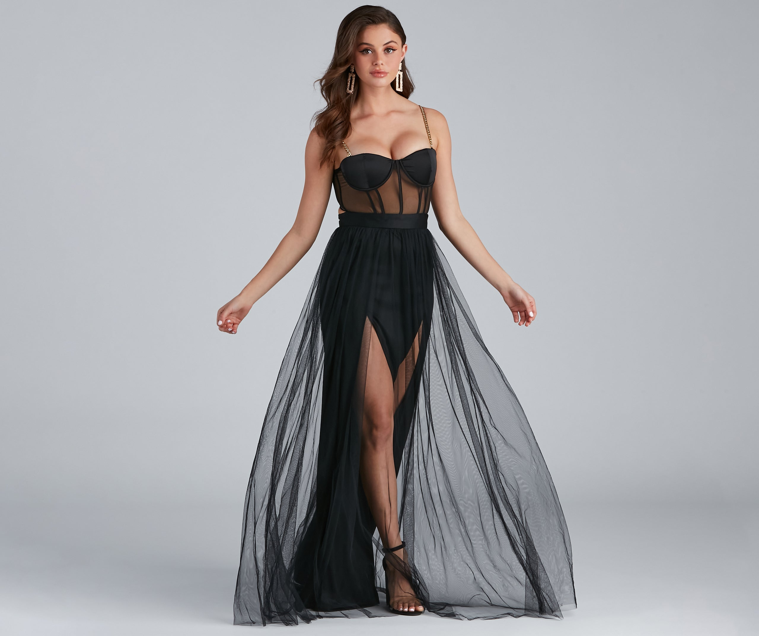 Cintra Mesh Tulle Bustier Gown – Windsor