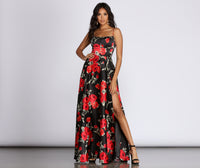 A-line Scoop Neck Empire Waistline Satin Sleeveless Spaghetti Strap 2019 Lace-Up Slit Dress