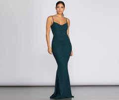 Ainsley Glittering Evening Gown
