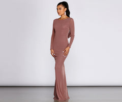 Kyra Glitter Long Slim Gown