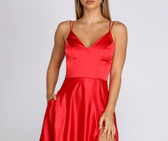 Ryder Satin A-Line Gown