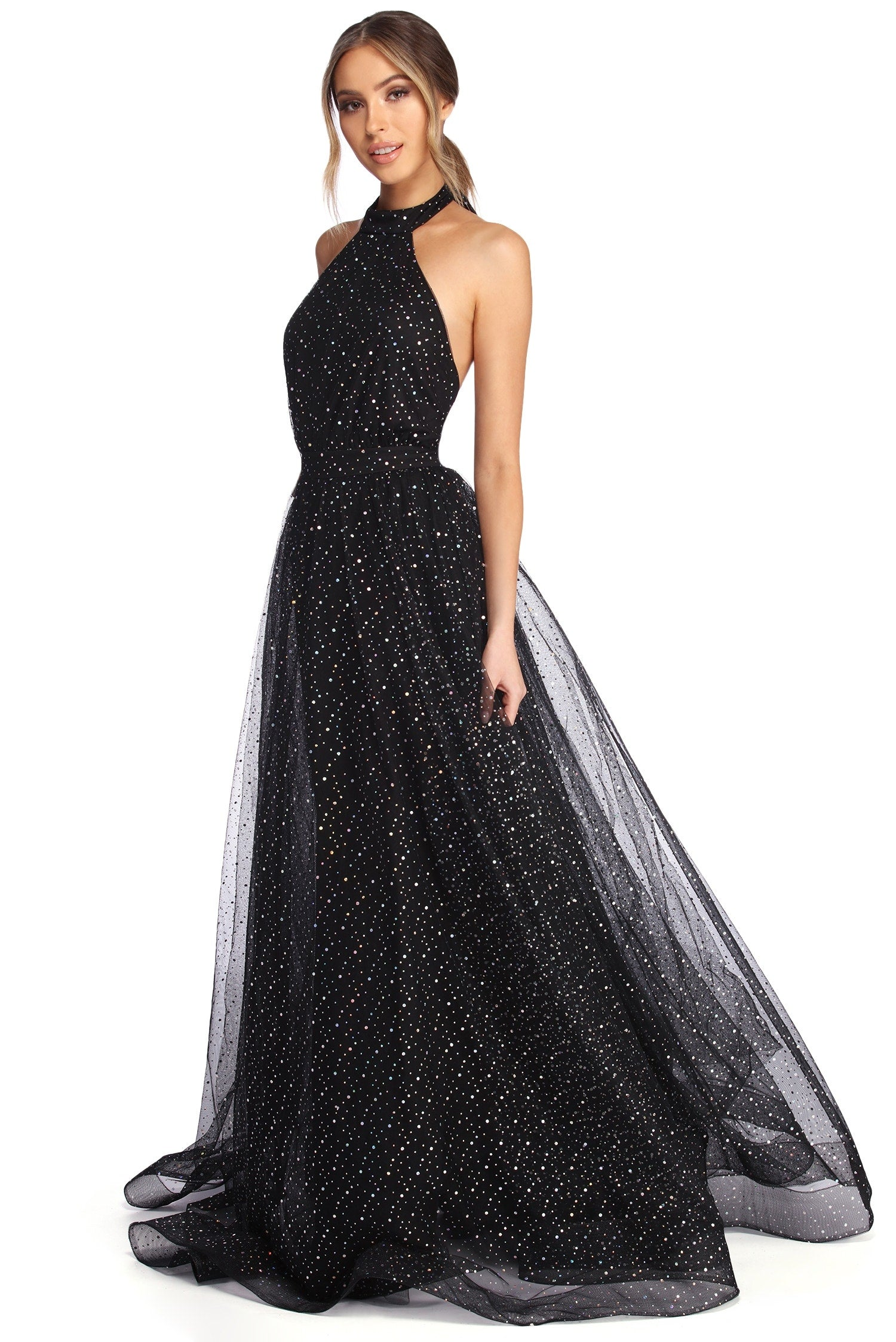 ball starry night gown