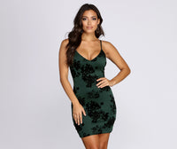 Sexy V-neck Fitted Short Floral Print Spaghetti Strap Dress