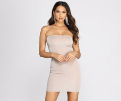 Countdown Cutie Glitter Mini Dress