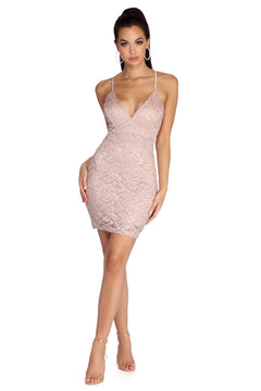 Glitter Lace Bodycon Dress Windsor