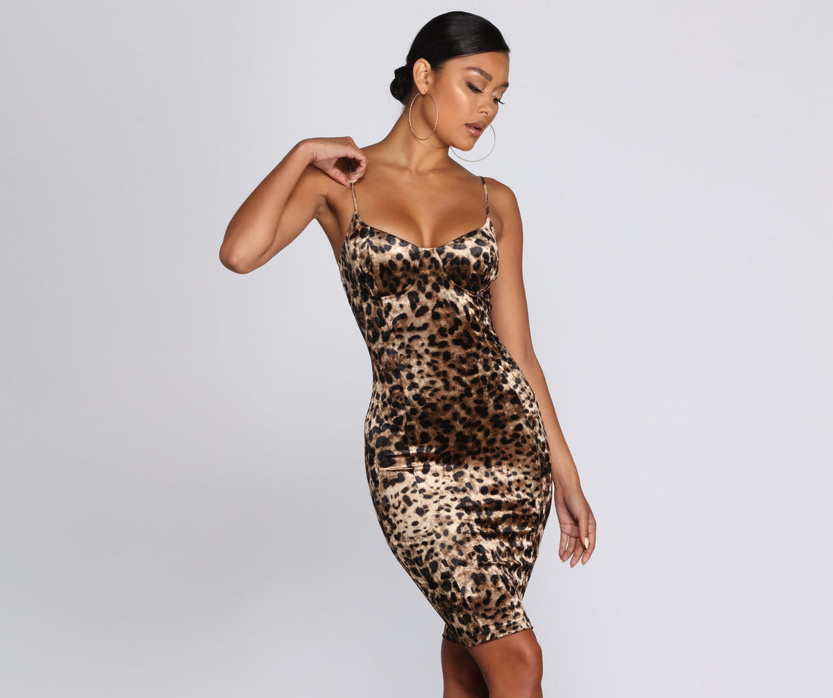 Sultry And Spotted Midi Dress by Windsor