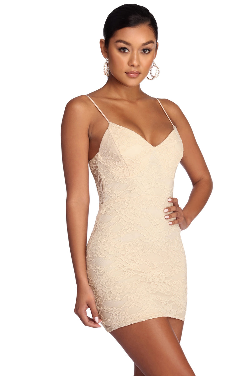WINDSOR $65 Natural Homecoming Cocktail Party Dress 7