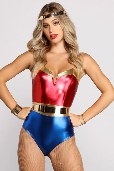 Lady Justice Metallic Foiled Bodysuit