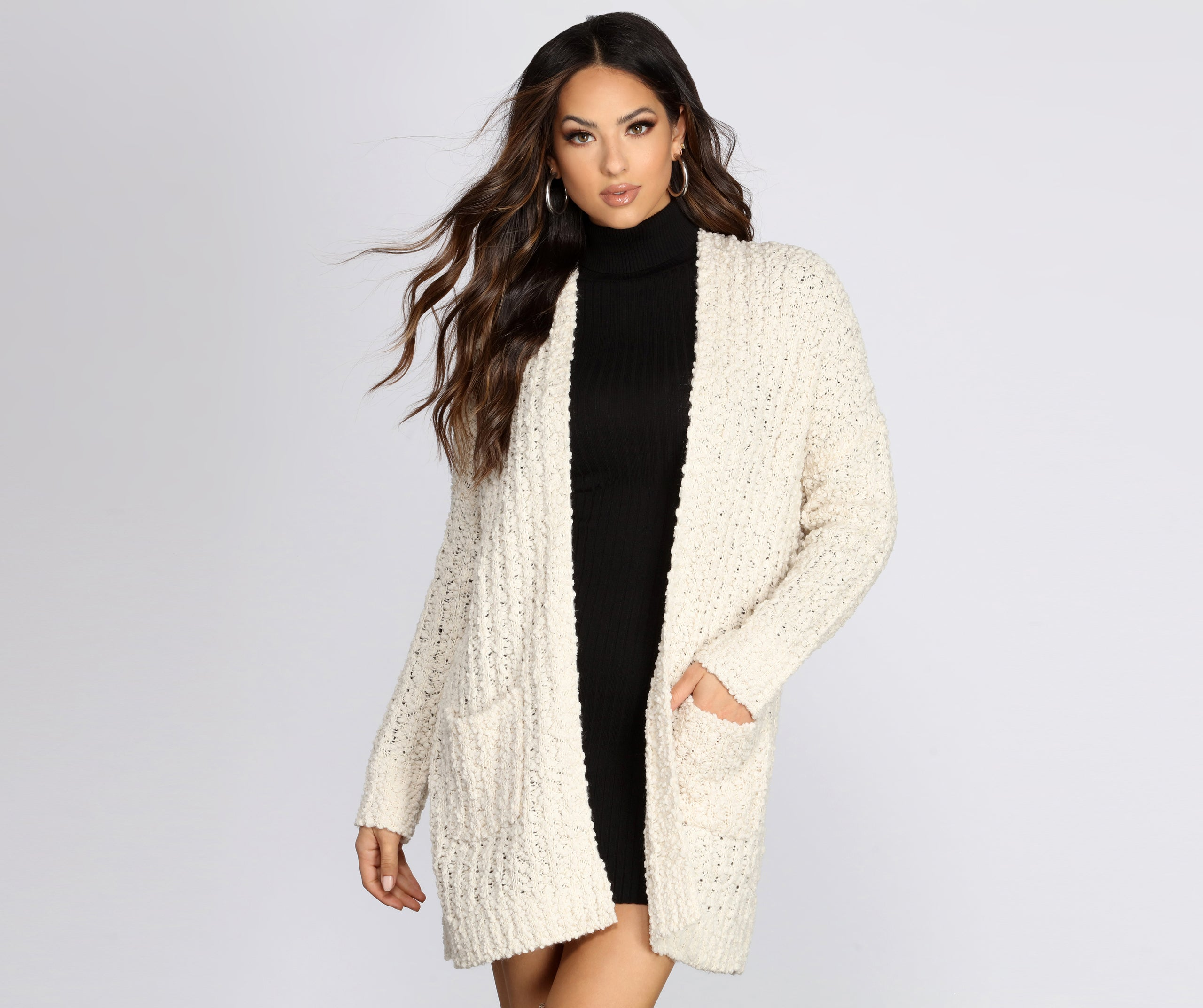 Sweet And Cozy Oversized Cardigan