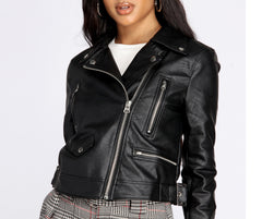 Free Bird Faux Leather Moto Jacket