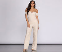 Shirred Cotton Jumpsuit