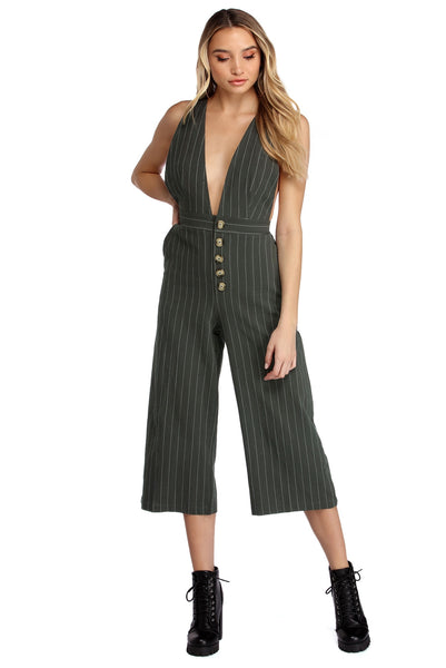 Trendsetter In Stripes Culotte Jumpsuit