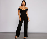 Short Knit Flowy Ruched Back Zipper Mesh Sheer Sweetheart Off the Shoulder Little Black Dress/Jumpsuit With Rhinestones