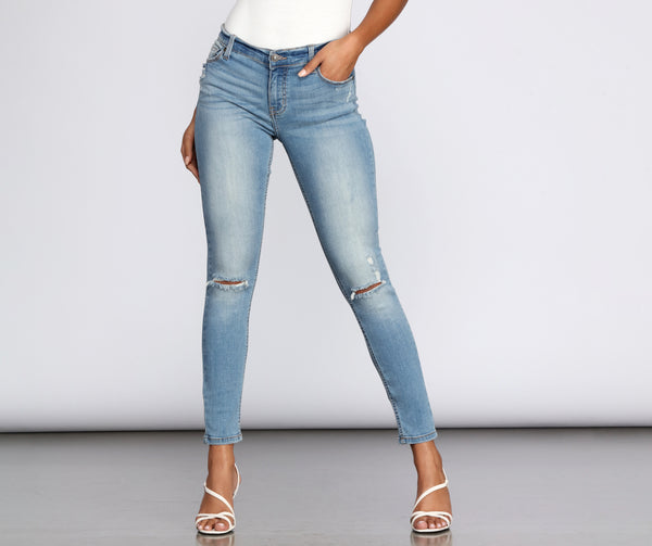 Jude Mid Rise Skinny Jeans