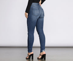 Bella High Rise Skinny Ankle Jeans