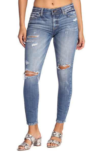 Going The Distance Distressed Skinny Jeans