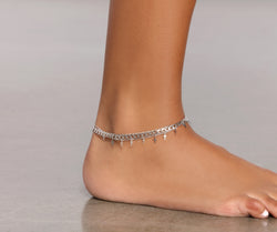 Three Pack Cross Chain Anklet