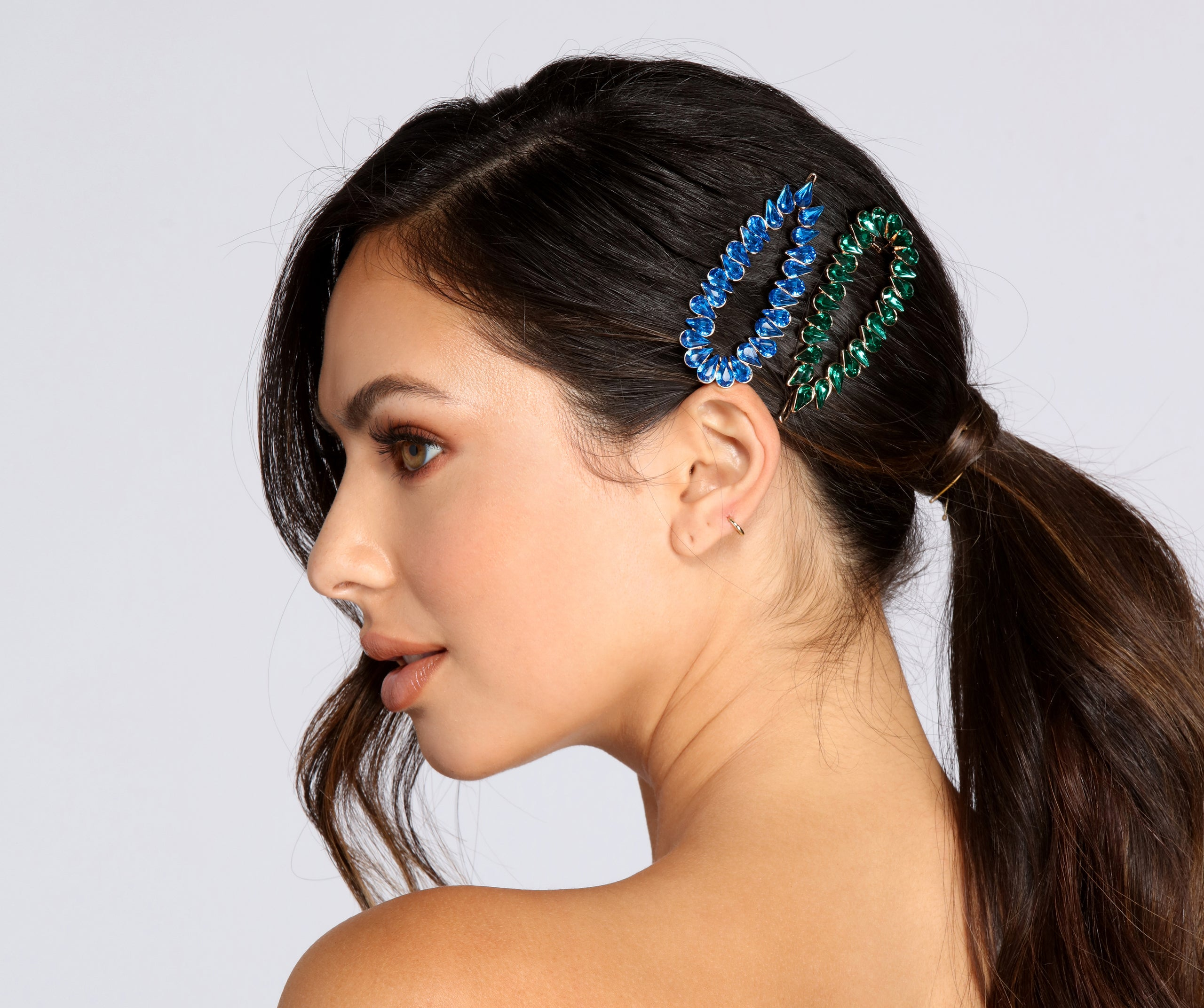 Gemstone Barrettes Pack of Two