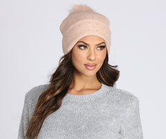 Cozy Heat Stone Knit Beanie