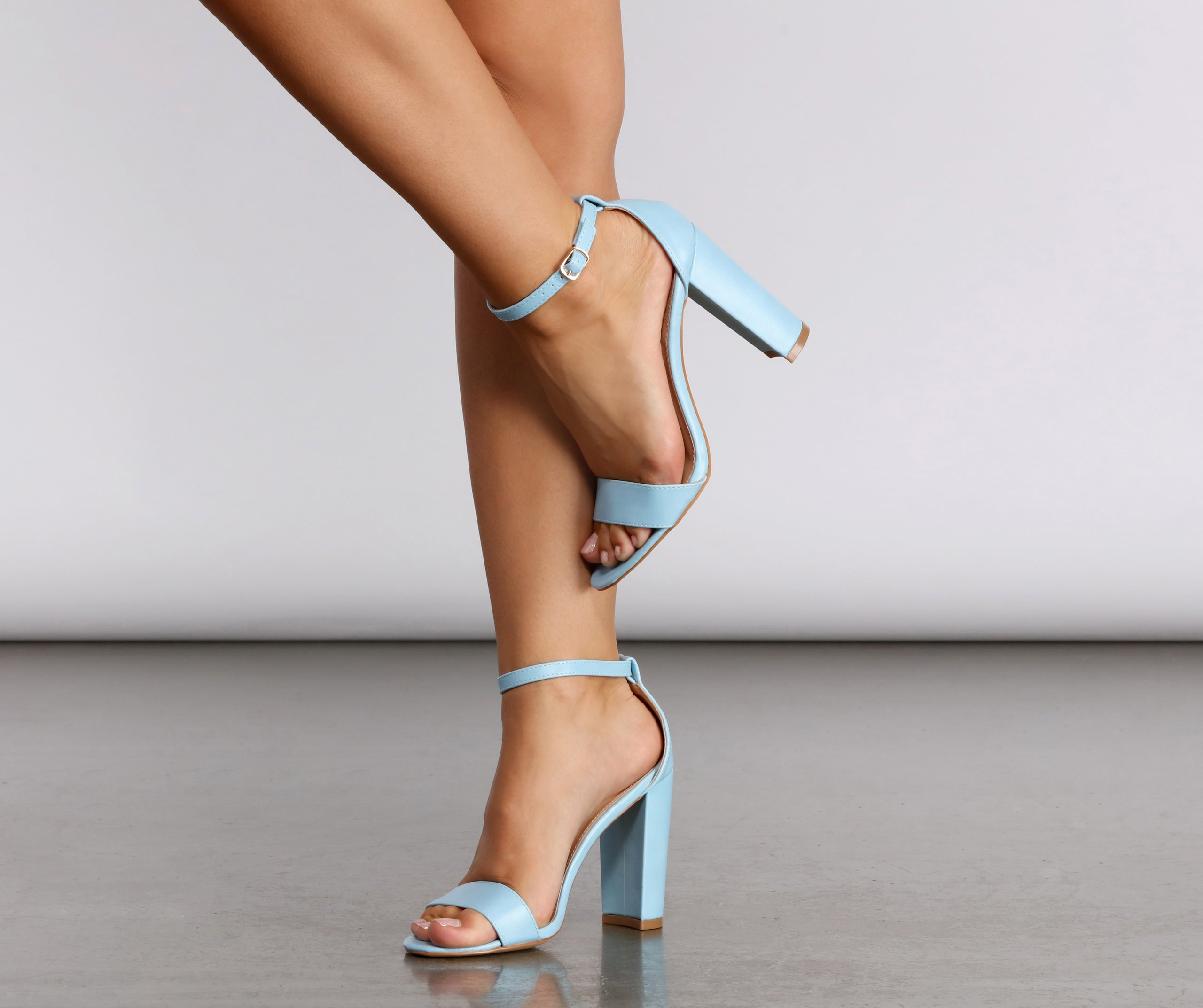 Summertime Fine Baby Blue Faux Leather