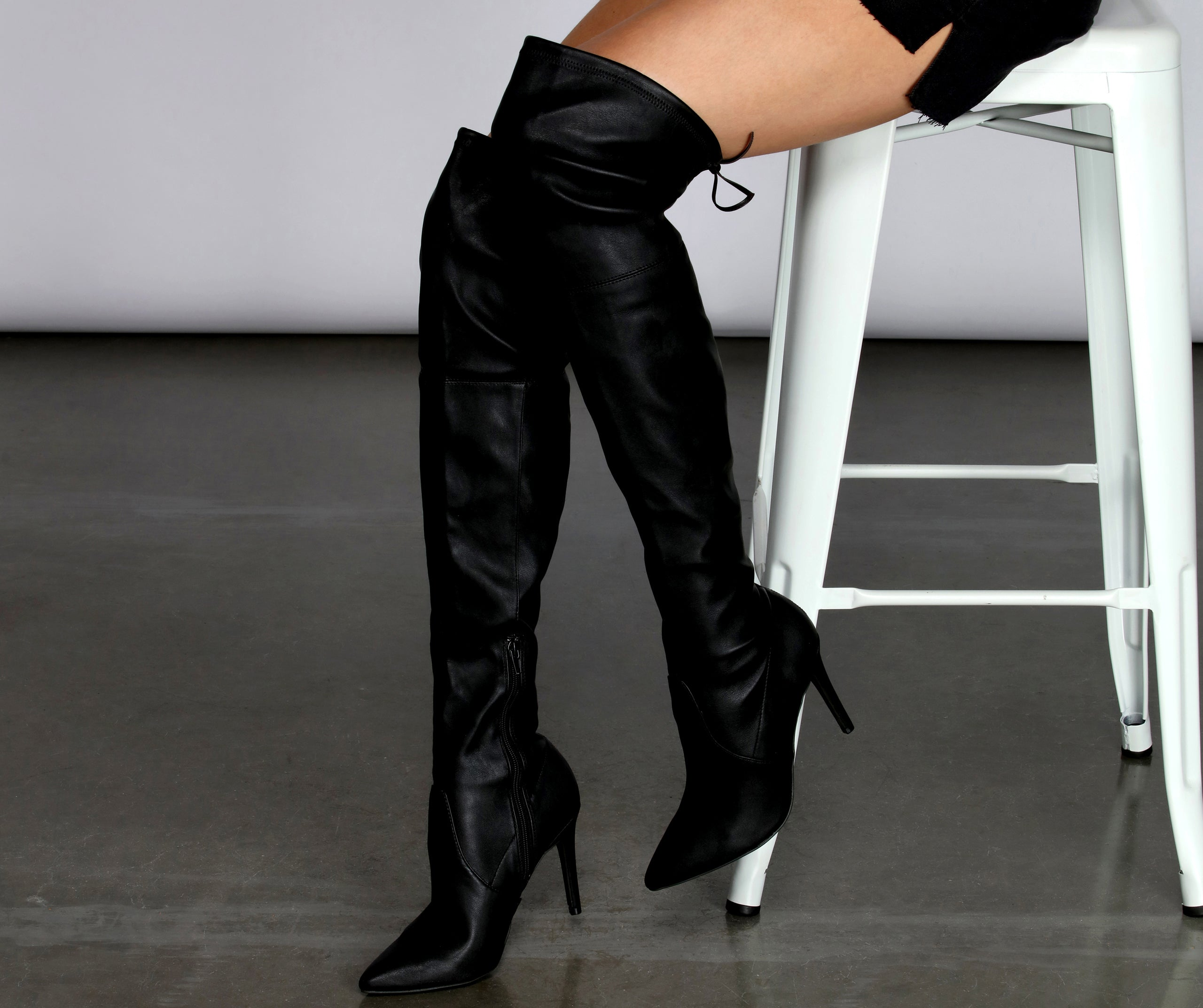 Bad Girl Thigh High Stiletto Boots