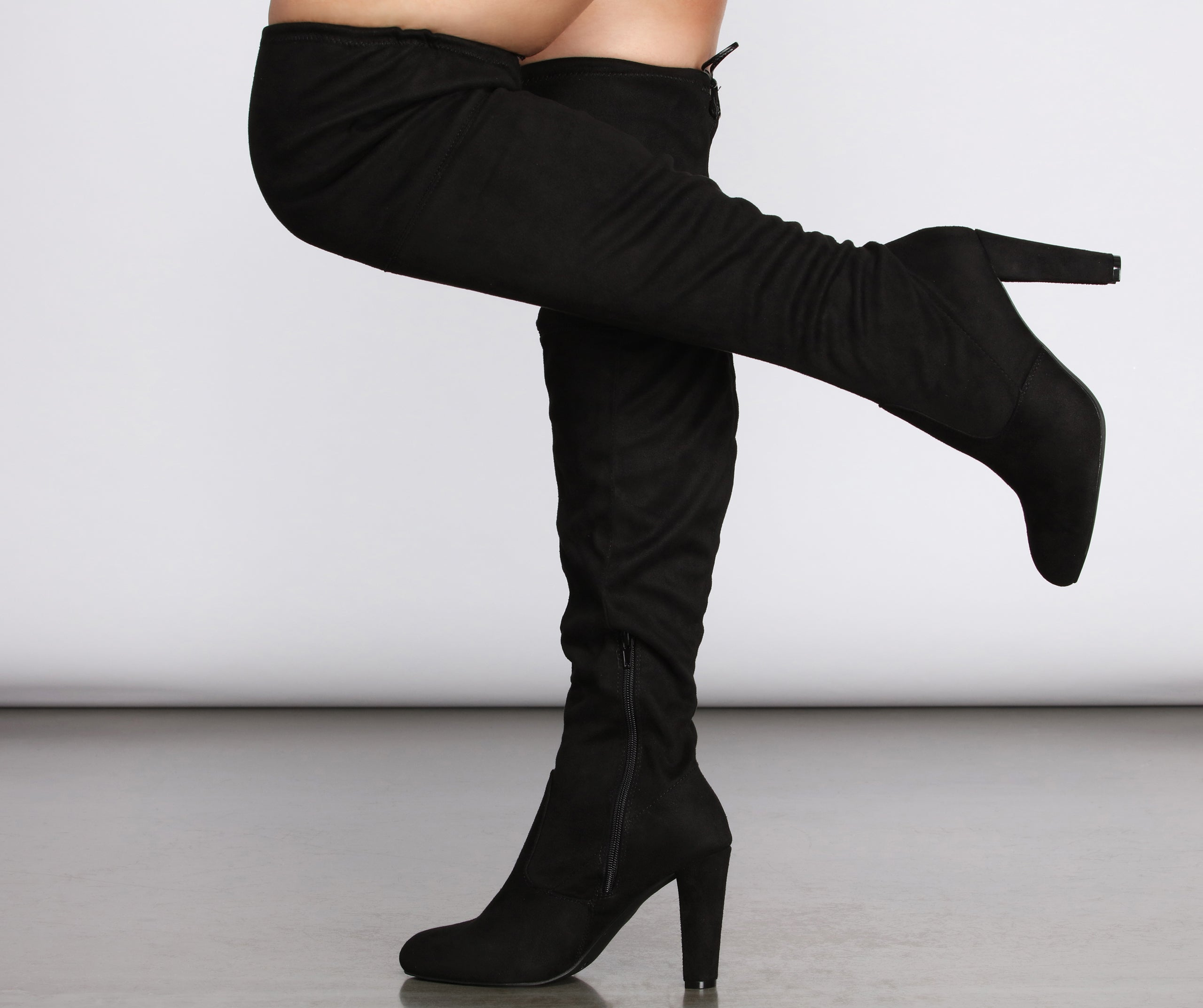 Forever Fall Wide Calf Thigh High Boots