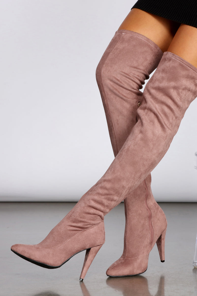 All About The Mauves Thigh High Boots