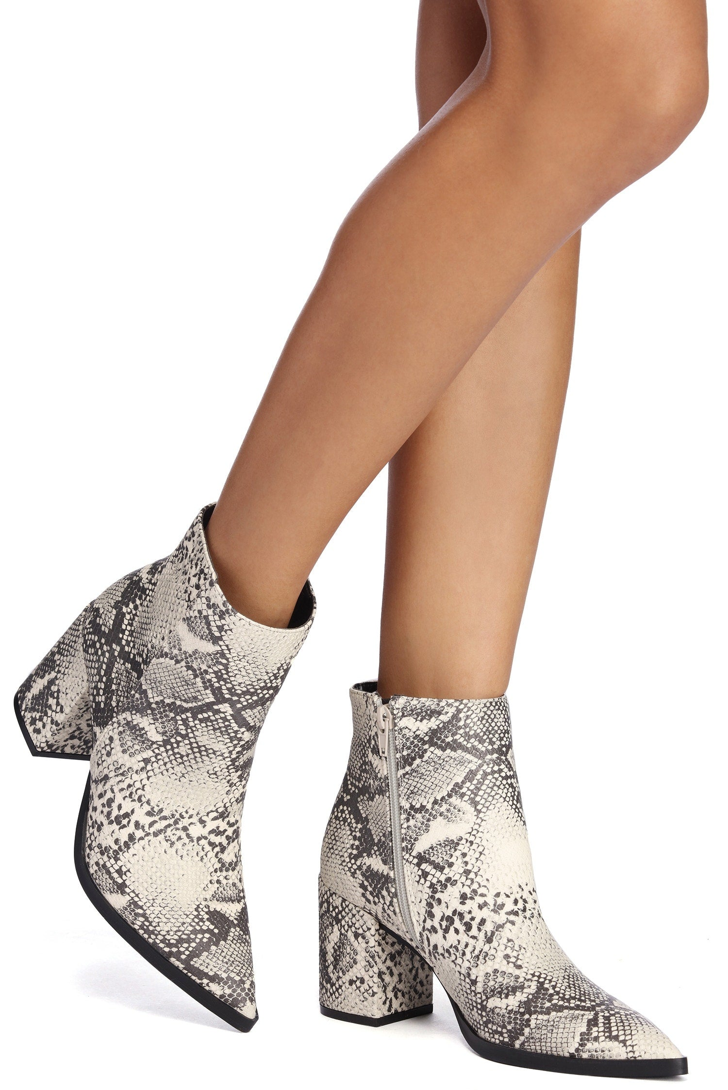 Snake It Easy Pointed Bootie