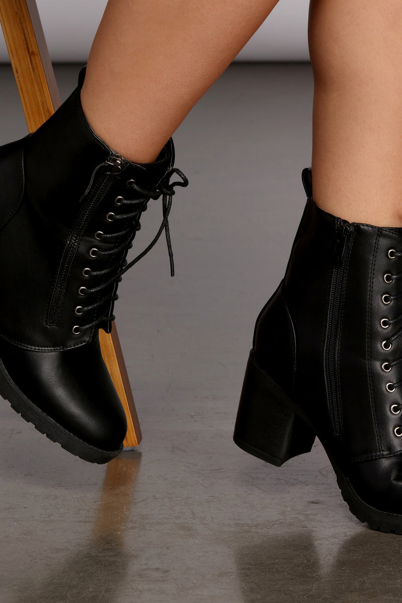 Bad Gal Lace Up Booties – Windsor