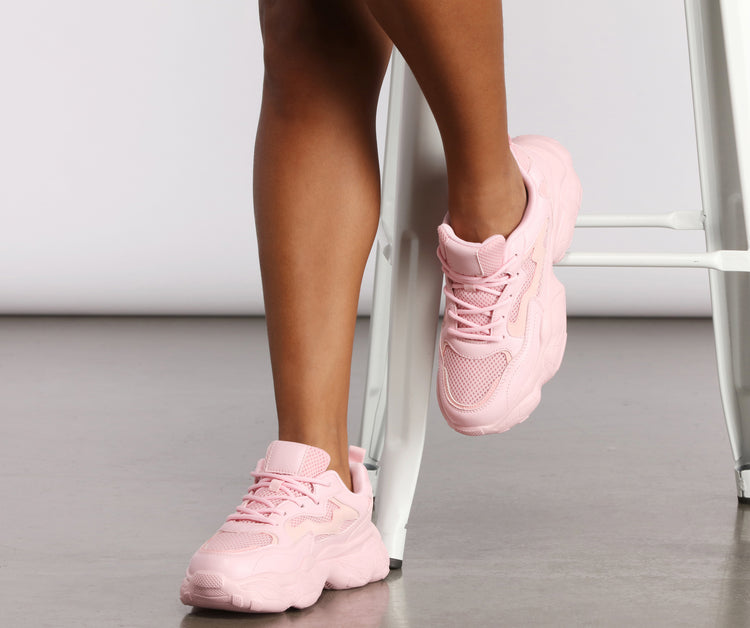 Pop of Color Chunky Sneakers