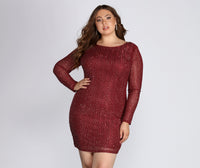 Plus Size Round Neck Short Mesh Back Zipper Sheer Sleeves Homecoming Dress