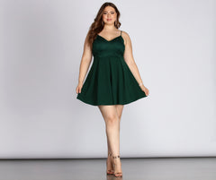 Plus Lace Appeal Skater Dress