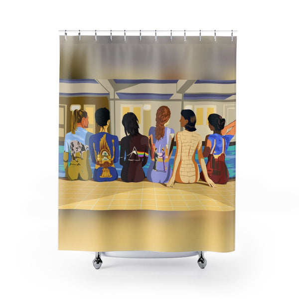 Pink Floyd Pool Side Shower Curtain
